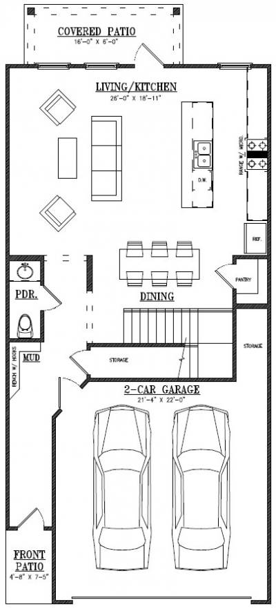 Owens Crossing Townhomes - Lot 51 - 2 Car, Interior Unit